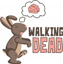 Zombie Walking Dead print art