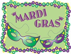 MardiGras MARDIGRAS print art design