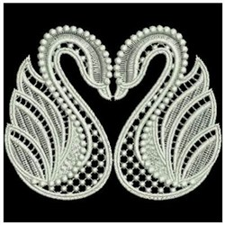 FSL Swans embroidery design