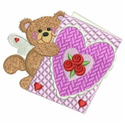 Valentine Angel Bears embroidery design