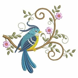 Hello Bird embroidery design