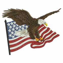 Ace Points Embroidery Design American Eagle 299 Inches H