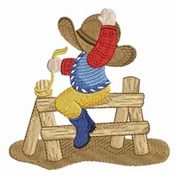 Ride Em Cowboy embroidery design