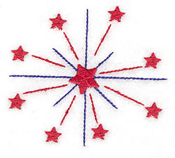 Firework Stars embroidery design