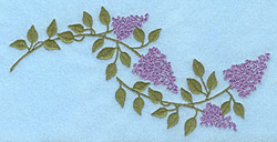 Lilac Blooms embroidery design
