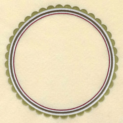 Scalloped Circle Border embroidery design