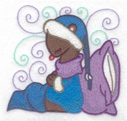Sleepy Weasel embroidery design