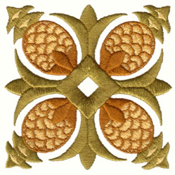 Pineapple Quilt Design embroidery design