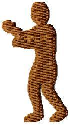 Boxer Silhouette embroidery design