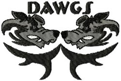 Dawgs embroidery design