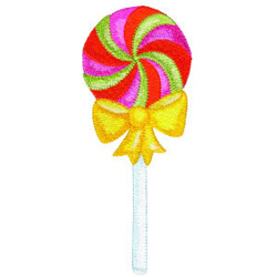Lollipop embroidery design
