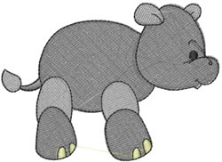 Henry the Hippo embroidery design