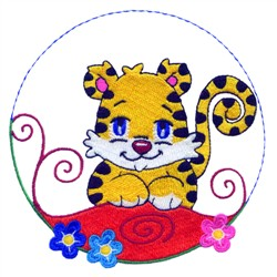 Cartoon Cheetah embroidery design