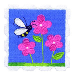 Bumblebee embroidery design