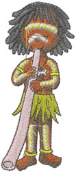 Australian Aboriginal Boy embroidery design