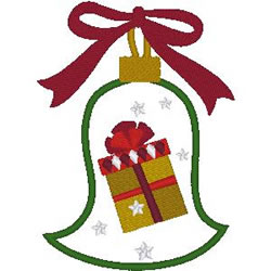 Gift Ornament Applique embroidery design
