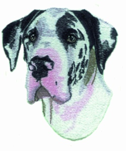 Great Dane embroidery design