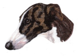 Balboa Threadworks Embroidery Design Greyhound 2.07 Inches H X 3.44 Inches W