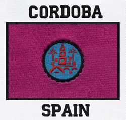 Cordoba, Spain Flag embroidery design