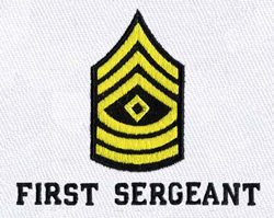 First Sergeant Stripes embroidery design