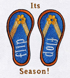 Flip flop season embroidery design