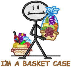 Im A Basket Case embroidery design