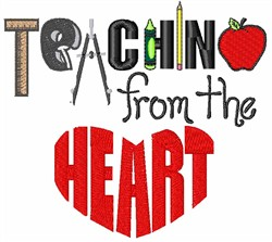Teaching From The Heart embroidery design