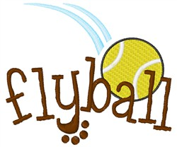 Fly Ball embroidery design