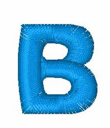 Puzzle Letter B embroidery design