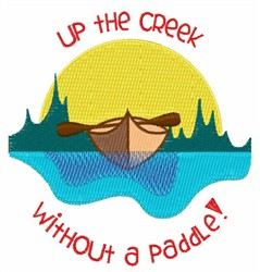 Up The Creek embroidery design
