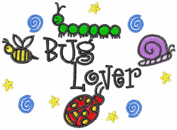 Bug Lover embroidery design