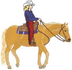 Female Western Pleasure embroidery design