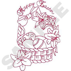 Easter Basket Vintage Embroidery Transfer Pattern | Flickr - Photo
