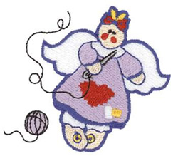 Sewing Angel embroidery design