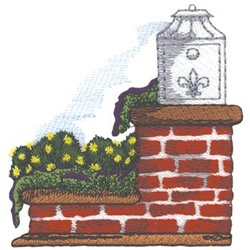 Brick Mailbox embroidery design