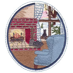 Winter Interior embroidery design