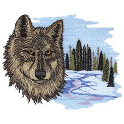 Winter Wolf embroidery design