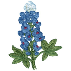 Texas Bluebonnet embroidery design