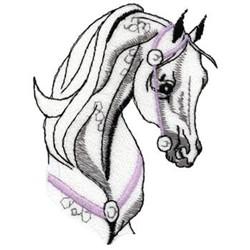 Arabian Horse Head embroidery design