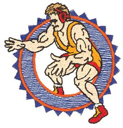Small Wrestling Logo embroidery design