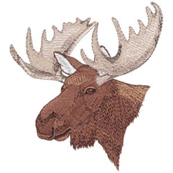 Dakota Collectibles Embroidery Design Moose Head 5 81 Inches H X 5 17 Inches W