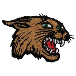 Wildcat Head embroidery design