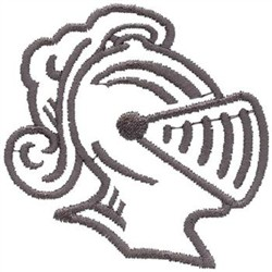 Dakota Collectibles Embroidery Design: Knight Head Outline ...