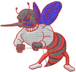 Angry Bee embroidery design