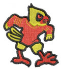 CARDINAL MASCOT embroidery design