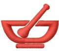 PHARMACY LOGO embroidery design