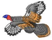 TURKEY FLIGHT embroidery design