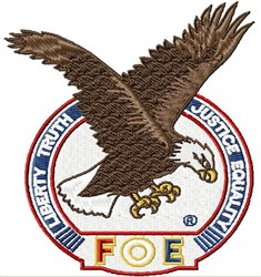 Fraternal Order Of Eagles FOE embroidery design