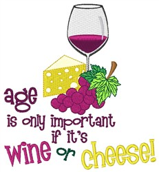 Wine Or Cheese embroidery design