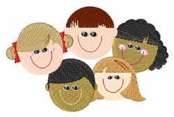 School Children embroidery design